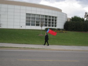 Man with Soviet Flag