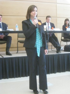 Susan Stimpson at the Middletown Forum