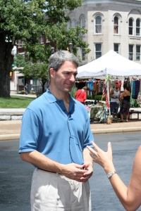 Attorney General Ken Cuccinelli speaks to the media