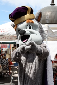 JMU's Duke Dog shows his spirit.