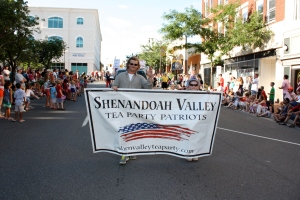 The banner of the Shenandoah Valley Tea Party